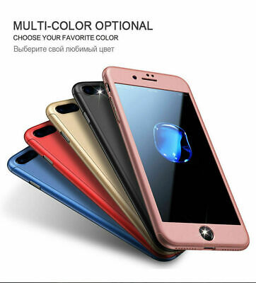 For iPhone 6 7/8 Plus X XR XS Max 360° Otterbox Full Case+Tempered Glass Cover