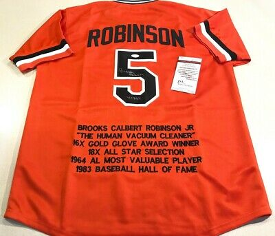 Display For Brooks Robinson Baltimore Orioles Jersey Frame