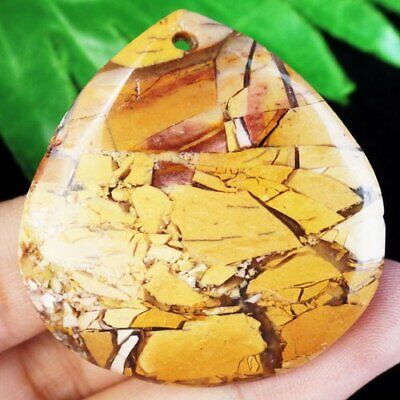 42x40x5mm Nice Natural Happiness Stone Teardrop Pendant Bead S48401