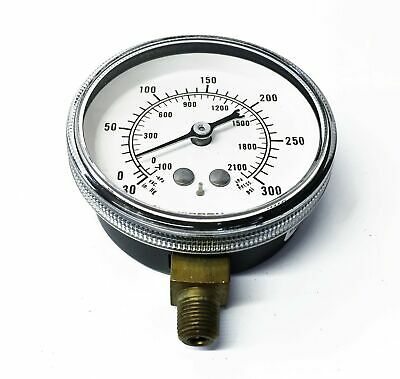 Marsh 0-300 PSI Pressure Gauge J4124 NOS