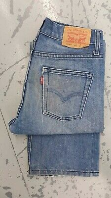 Levi Strauss 514 Slim Straight Red Tab Jean - W27 L27 (14 Reg) - Medium Blue