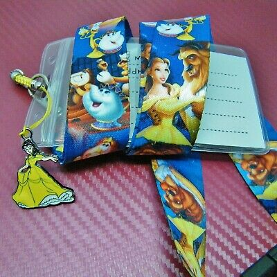 Disney Inspired Character Beauty & the Beast Safety Lanyard Neck Strap ID Holder