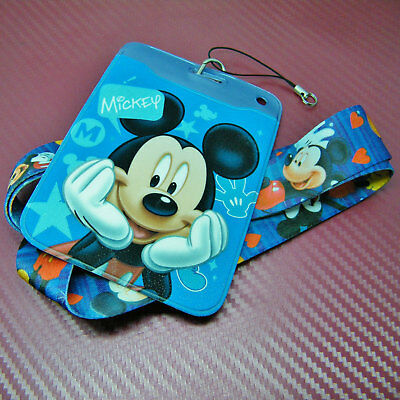Disney Inspired Character type Mickey Mouse with Safety Lanyard Strap ID Holder