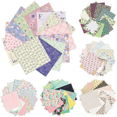 12pcs/set Flower Pattern Scrapbooking Background Art Paper Card Making DIY Craft