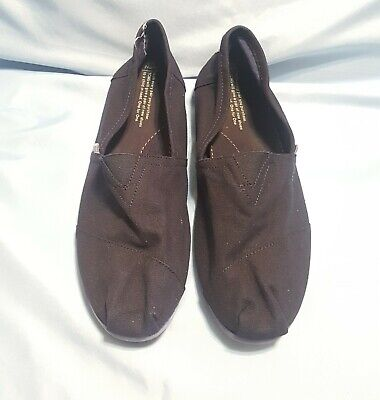 Toms Shoes Mens Size 10.5 Navy Blue Canvas Slip On