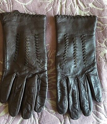 Brown Ladies Leather Gloves Small to Medium