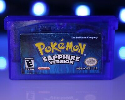 POKEMON: SAPPHIRE VERSION [NEW BATTERY!] Nintendo Gameboy Advance GBA  Kyogre USA