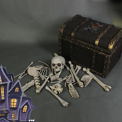 Bag of 28pcs Skeleton Bones Haunted Props Display Halloween Party Decor Horror