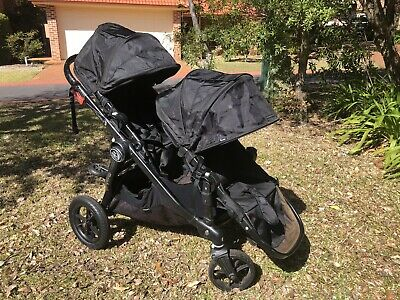 Baby Jogger City Select Double Stroller + Glider Board - Black