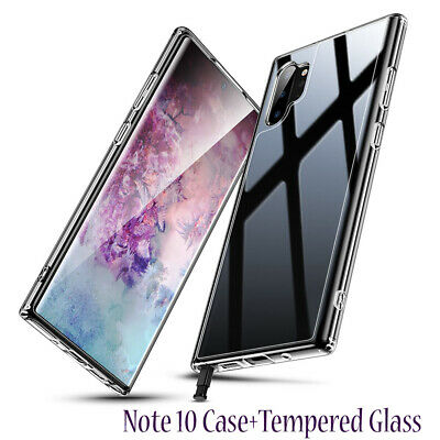 CLEAR Case For Samsung Galaxy Note 10 Plus 5 Cover Shockproof Silicone Gel TOUGH