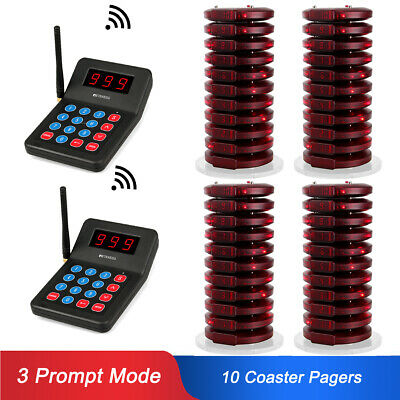 Restaurant Wireless Calling Paging Queuing System 999CH 2*Transmitter+40*Pagers