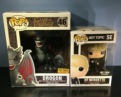 Funko POP! Game of Thrones #46 - Drogon - Hot Topic Excl. + FREE HT Nerdette POP