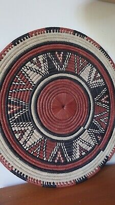 Moroccan Hand Woven Wall Hanging /Basket,Strong Colours Excellent Condition