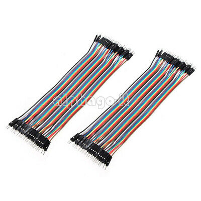 5 x 40PCS 20cm Dupont wire jumper cables 2.54MM male to male 1P-1P For Arduino