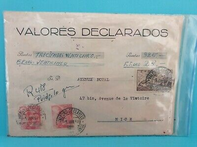 Spanish Values Declared Envelope 🎁with 5 wax Seals MADRID TO NICE 🎁 FREE POST