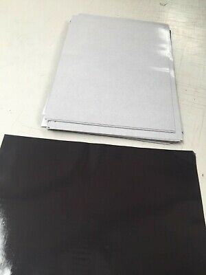 (MINOR DEFECT) 20 x A4 Magnet Sheets with Adhesive Front Layer Magnetic 0.4mm