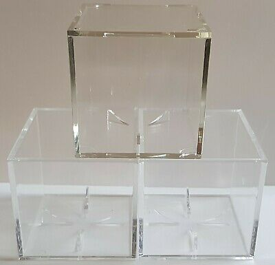 Baseball Display Cubes - Total Of 3 - Used Condition