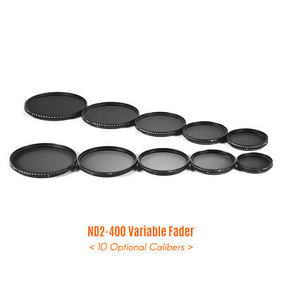 ZOMEI 40.5mm Ultra Slim Fader ND2-400 Neutral Density ND Filter Adjustable Z5T0