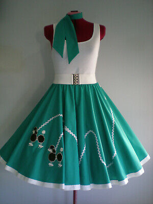 "ROCK N ROLL/ROCKABILLY  ""POODLE"" SKIRT-SCARF L-XL Jade."