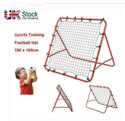 Boys Rebounder Net Ball Kickback Soccer Goal Football Training Game Kids Target