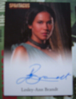 Spartacus Lesley Ann Brandt Autograph Card as Naevia Blood and Sand