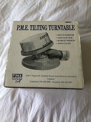 P.M.E. Tilting Turntable Sugar Craft Cake Icing Stand