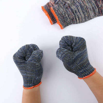 1pair Cotton Yarn Knitted Gloves Skid-resistant Wear-Resistant Labour Protect