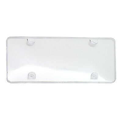 6 Thin Clear Flat Plastic Auto License Plate Shield Protectors .020 Gauge Covers