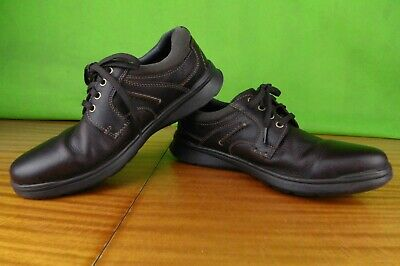 Men's Brown Clarks Cushion Ortholite Shoes Size Uk 10.5 G