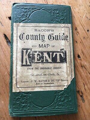 Vintage Bacons County Guide And Map Of Kent