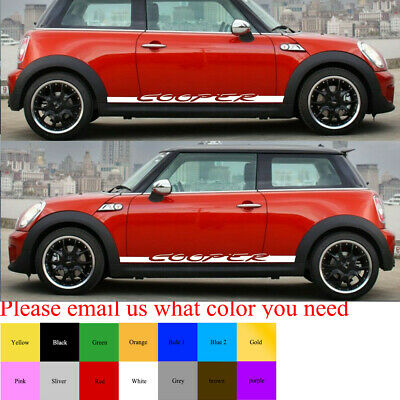 Sticker Decal Side Door Stripe Body Kit for Mini Cooper Hatch Handle Cover Set