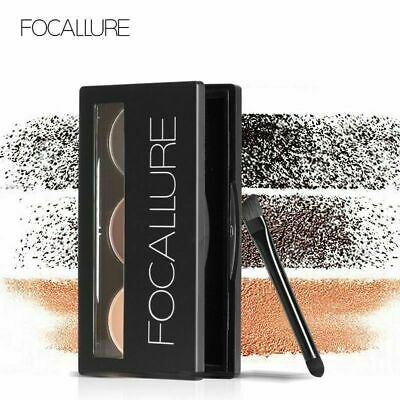 Focallure Eyebrow Powder Waterproof and Smudge Proof Mirror and Eyebrow Brushes