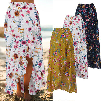 ZANZEA Women Summer Ruffle Frill Loose Maxi Dress Sundress Ladies Floral Skirt