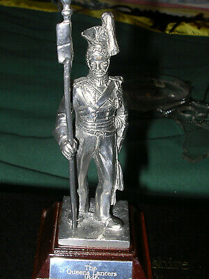 Royal Hampshire - Silver Plated Pewter The Queens Lancers 1846