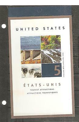 pk45758:Stamps-Canada #BK259 Tourist Attractions 5 x 65  cent Booklet - MNH