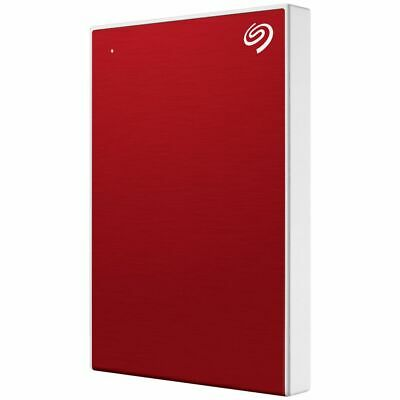 Seagate 2TB Backup Plus Slim Portable Hard Drive Red