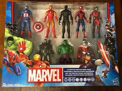 Marvel Ultimate Protectors Pack; includes 8 figures and Captain America shield
