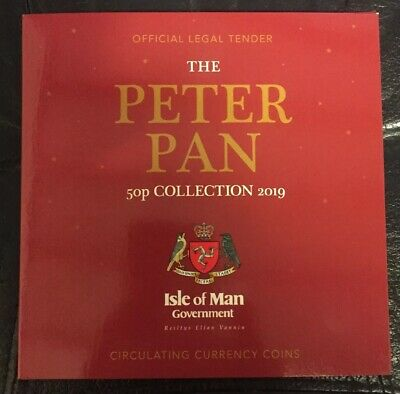 The Official Isle Of Man Government 2019 Peter Pan 50p Set