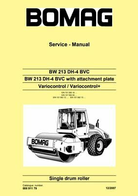 PDF Download Bomag Service Manual Single Drum Roller BW 213 DH-4 BVC