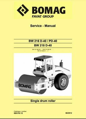 PDF Download Bomag Service Manual Single Drum Roller BW 216 D-40 / PD-40