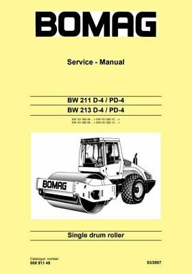 PDF Download Bomag Service Manual Single Drum Roller BW 211 D-4 / PD-4 BW 213