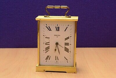 Vintage Swiza Brass Mechanical Carriage Clock Spares
