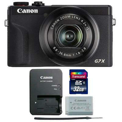Canon PowerShot G7 X Mark III Digital Camera Black with 32GB Memory Card