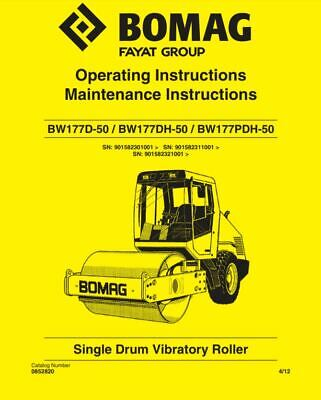 PDF Download Bomag Manual Single Drum Vibratory Roller BW177D-50 BW177DH-50