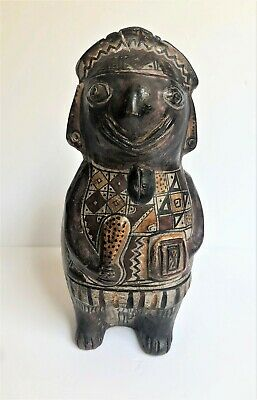 Pre-Columbian South America Polychrome Painted Pottery Figure