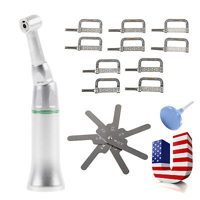 Dental Contra Angle Handpiece 4:1 Reduction Interproximal IPR Stripping Kit M/A