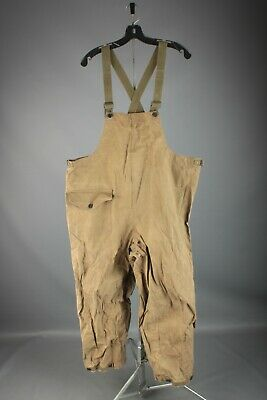 Vtg Men's WWII USN Navy Foul Weather Deck Coveralls XL 46x27.5 WW2 Overalls 7501