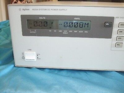 HP Agilent 6625A Precision System Power Supply-25W or 50W-2 outputs-TEST EQUIP