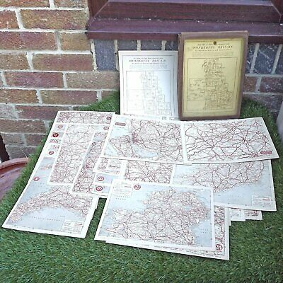 Wonderful Britain British Isles 24 Road Maps + 7 Large & Places Worth Visting