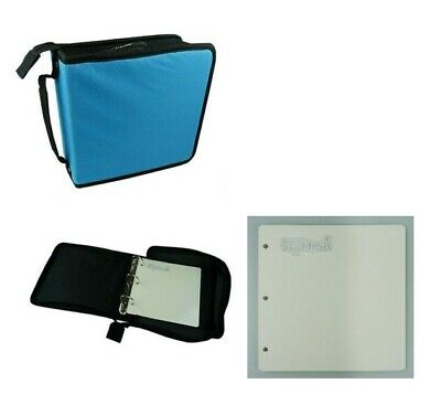 Nellie's Storage Case - Blue Cover for Clear Stamps + 5 Mounting plates / Refill